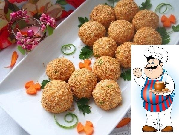 """Салатные шарики """"А-ля Мимоза"""""""