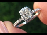 Certified SI1G Natural Untreated Diamond Engagement Wedding 14k White Gold Ring - C403