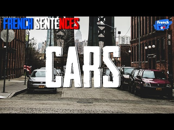 French sentences - Cars