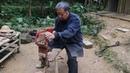 老爷爷凿出传说千年的鲁班凳,一块木头不用分解,成品那一刻真绝