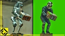Boston Dynamics Fake Robot VFX Before After Reveal