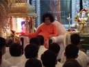 Sai Love 122 - Swami in the Bhajan Hall in Prasanthi Nilayam