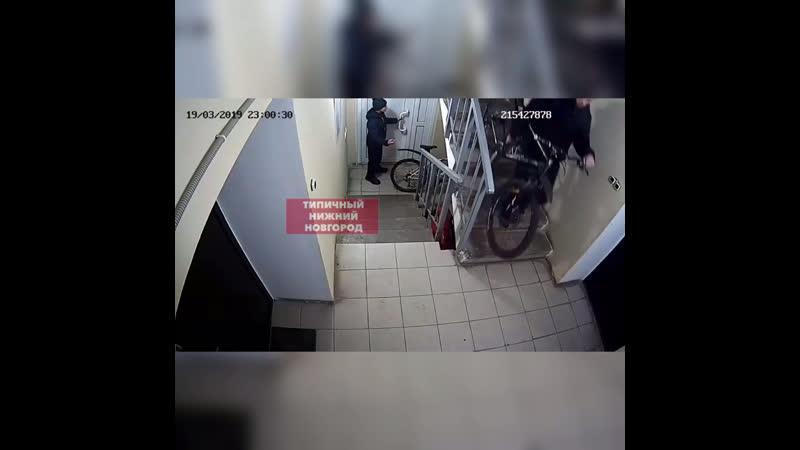 Воры крадут велосипеды из подъезда Типичный Нижний Новгород