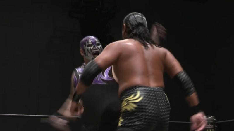 Toru Owashi, Kazuki Hirata vs. Mad Paulie, Nobuhiro Shimatani (DDT Live! Maji Manji 18 ~ Shibuya Stream Opening Commemoration P