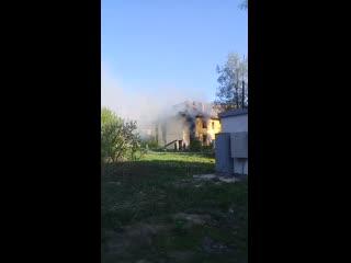 Соц сети: По словам очевидцев пожар был сегодня утром🔥