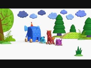 Раскраска Деревяшки - Простуда - серия 23 - Учим цвета с малышами - обучающие мультики