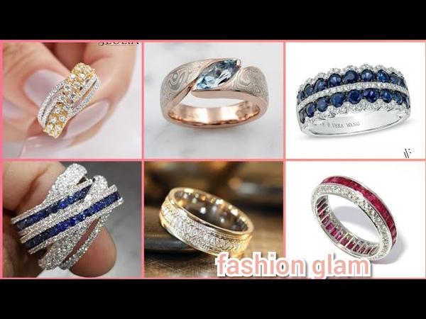 Elegant diamond's, topaz ruby wedding bands for women's/anniversary diamond bands