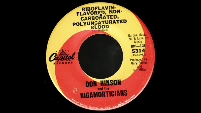 Don Hinson - Riboflavin-Flavored, Non-Carbonated, Polyunsaturated Blood