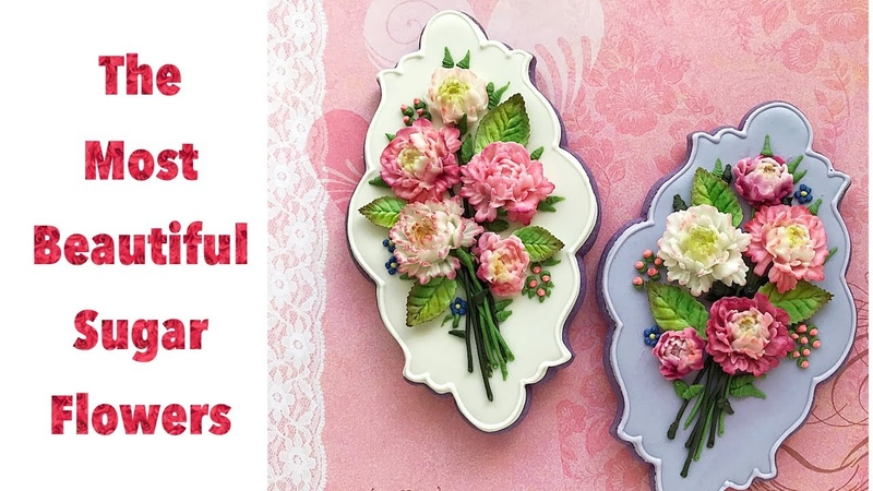 The most beautiful sugar flowers. How to decorate flower bouquet cookies 🌸