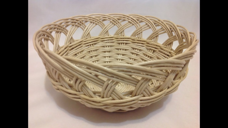 24 Мастер класс от А до Я Корзинка с ажурной загибкой DIY Basket with openwork top ENG SUBS