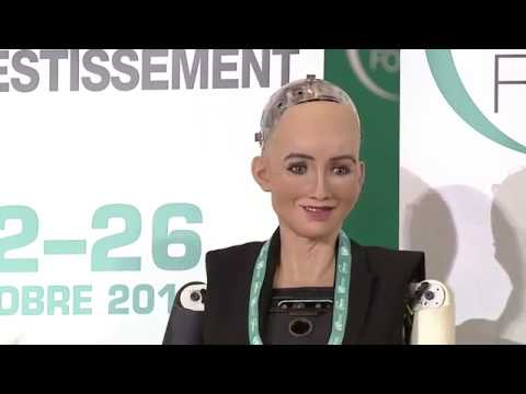 Humanoid Robot Sophia on her Goals for the Future - World Investment Forum 2018