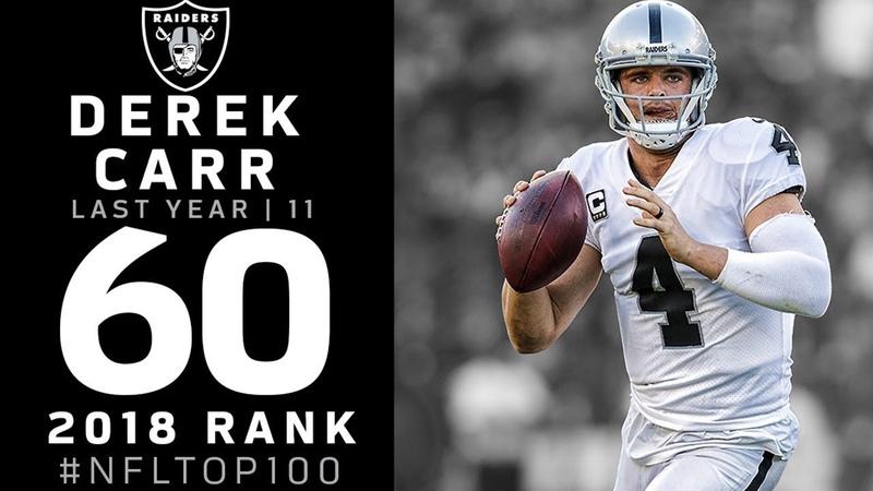 60 Derek Carr QB Raiders Top 100 Players of 2018 NFL