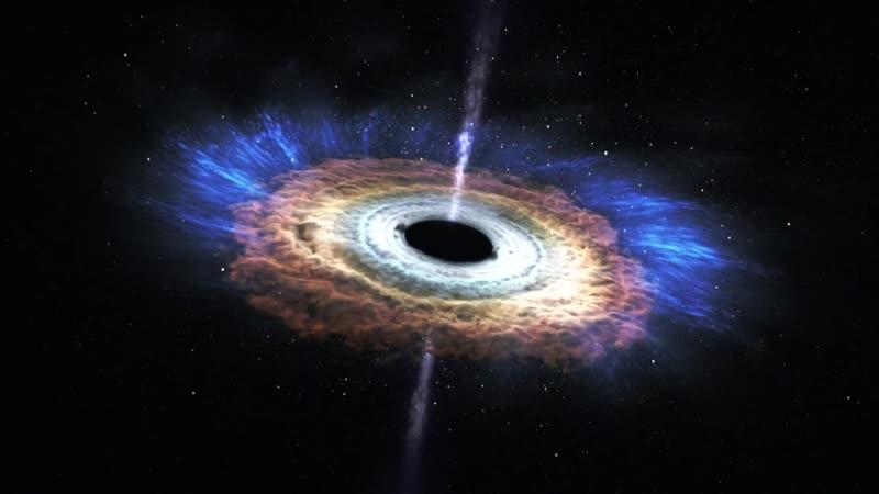 Разрушение звезды при приближении к чёрной дыре