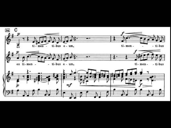 6. Et misericordia (Magnificat - BACH) Vocal Score