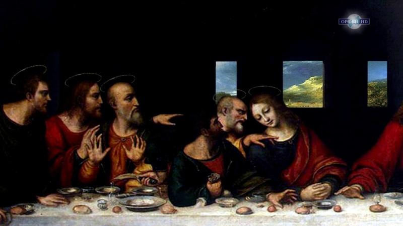 Леонардо да Винчи - Тайная вечеря - Ожившая картина / 3D анимация