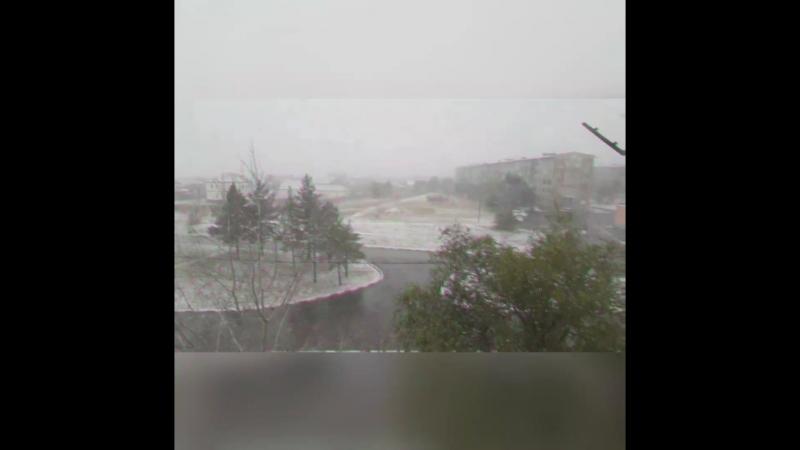 В Житикаре снег 😀😁😉