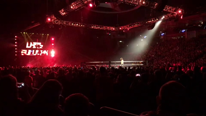 WWE Live Berlin Rusev vs Matt Hardy (Lars Sullivan attacks)
