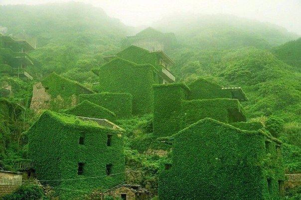Деревня в архипелаге Шенгси Китайский архипелаг Шенгси включает в себя почти 400 островов. На одном из них когда-то располагалась рыбацкая деревня, теперь заброшенная и медленно, но верно