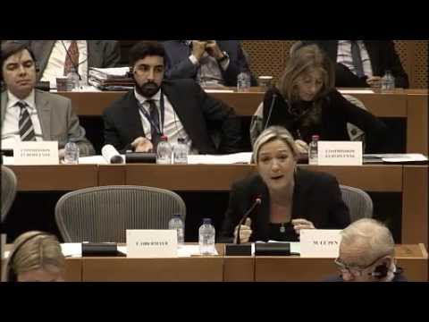 Intervention de Marine Le Pen en Commission du commerce international
