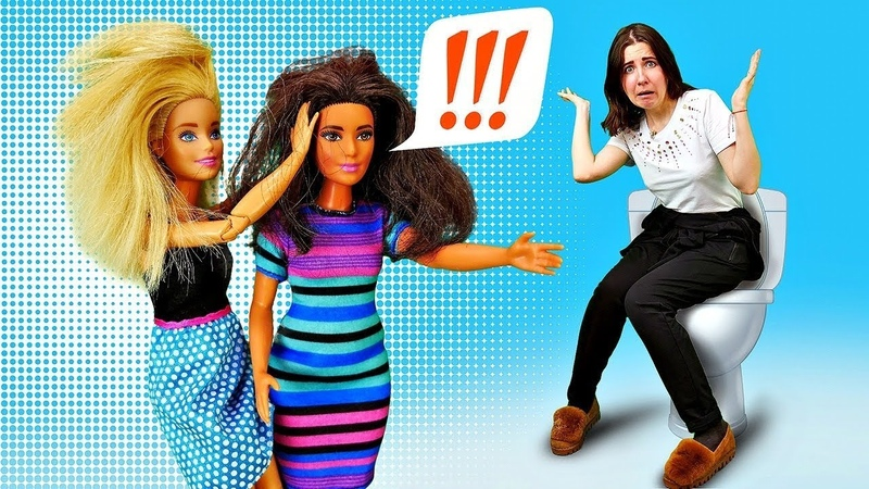 Разборки в туалете Барби vs Тереза - Куклы Барби в школе. Видео для девочек - Я не хочу в школу 9
