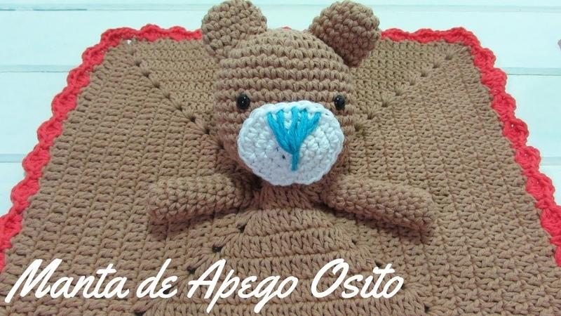 Tejé Manta de Apego Osito a Crochet - Paso a Paso