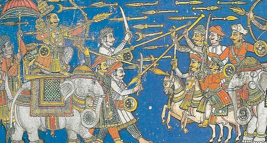 Бой индийских раджей