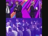 Jihoon Made a heart to the fans. - - Jungkook Made a heart to Jihoon. - - Sooo cute. ️