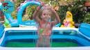 Бассейн с Лизуном 300 Литров зелёного лизуна Дети в восторге.