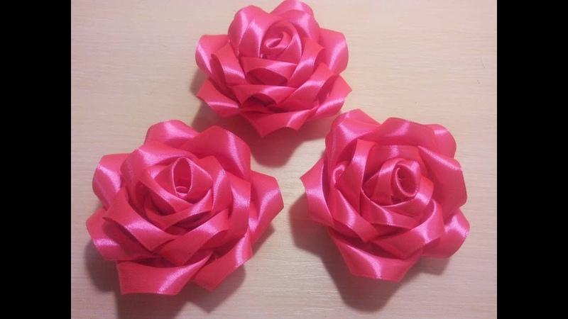 лепесток для розы из атласной ленты. МКKanzashi\bloemen gemaakt van satijnen lint decoratie