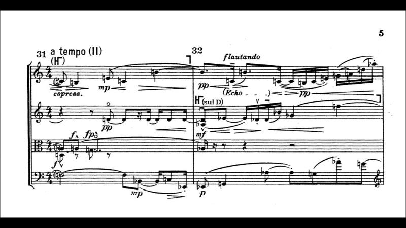 Alban Berg Lyrische Suite Lyric suite With score