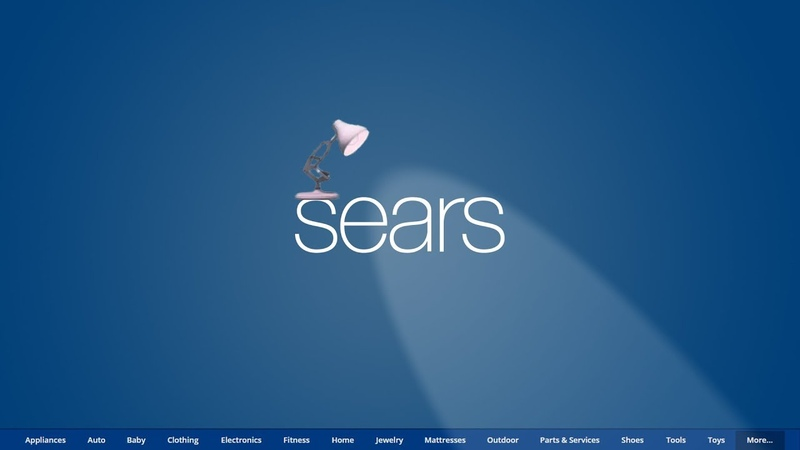 1355 Sears Chain Of Department Stores Spoof Pixar Lamps Luxo Jr Logo