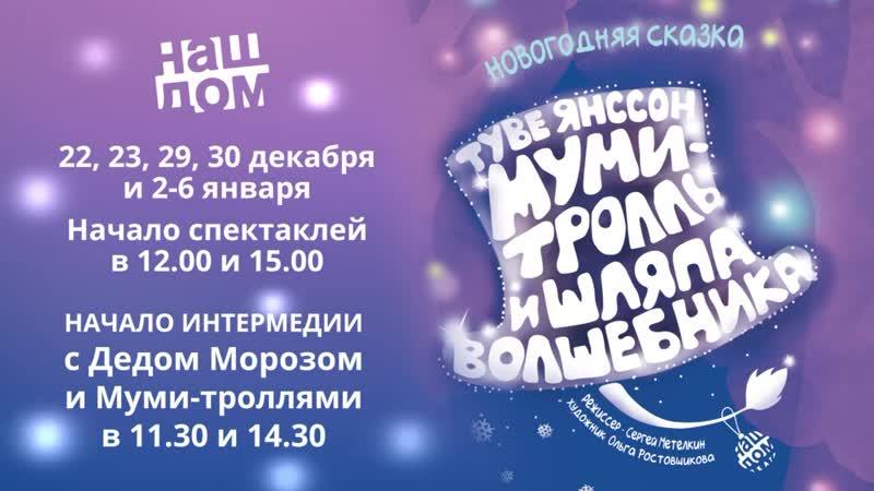 «Муми-тролль и шляпа волшебника» новогодний спектакль театра Наш Дом