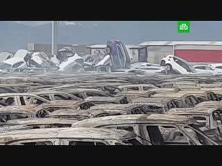 Пожар уничтожил сотни maserati
