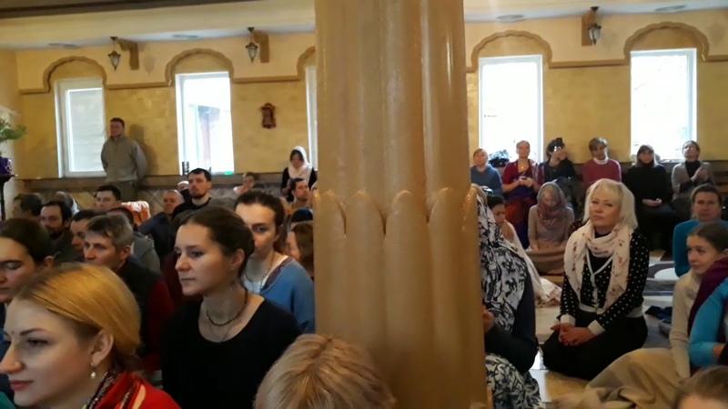 Е.М, Аударья Дхама Прабху (11.02.2019) Лекция по ШБ, Одесса, Храм