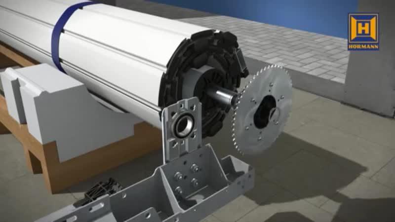 Монтаж рулонных ворот Rolltor SB