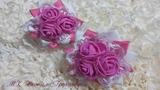 Нежные бантики из репсовых лент МК Натали Грунчевой Delicate bows from rep ribbons