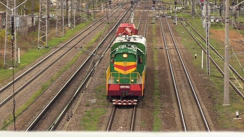Тепловоз ЧМЭ3-3964 близ ст. Вагонный Парк / CME3-3964 near Vagonu Parks station