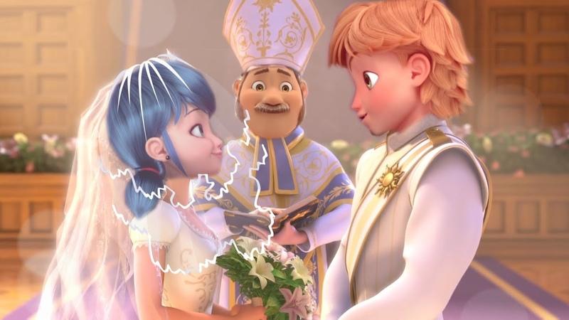 СВАДЬБА ЛЕДИБАГ и СУПЕР-КОТА Wedding Miraculous LadyBug and Cat Noir LOVE STORY MUSIC