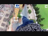 Daredevil Climbs 80ft Crane - And Then Does A Workout