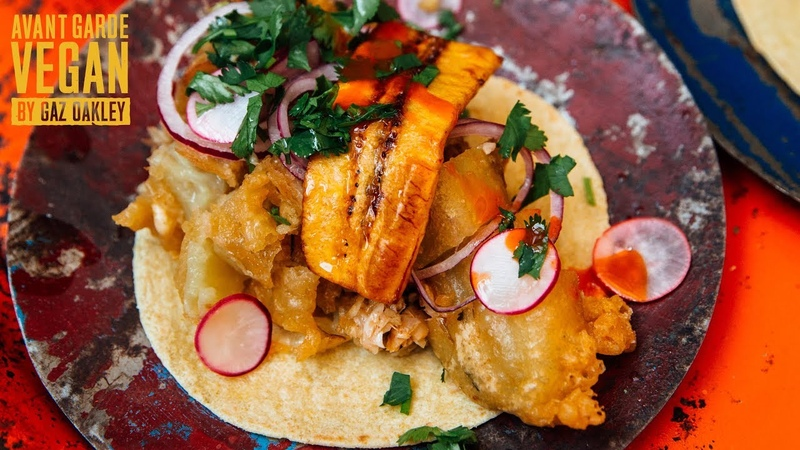 BEST TACOS IVE EVER EATEN. Fried Jackfruit Stuffed Peppers Recipe!