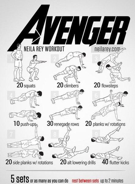 10 комплексов упражнений, которые сделают вас супергероем Любой человек, без сомнения, хотел бы быть хоть немного похож на крутых героев масс-медиа. Быть сильным как Халк, выносливым как
