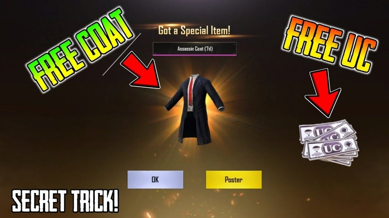 Secret Trick To Get Free UC And Assassin's Coat In Pubg Mobile Limited Time Offer