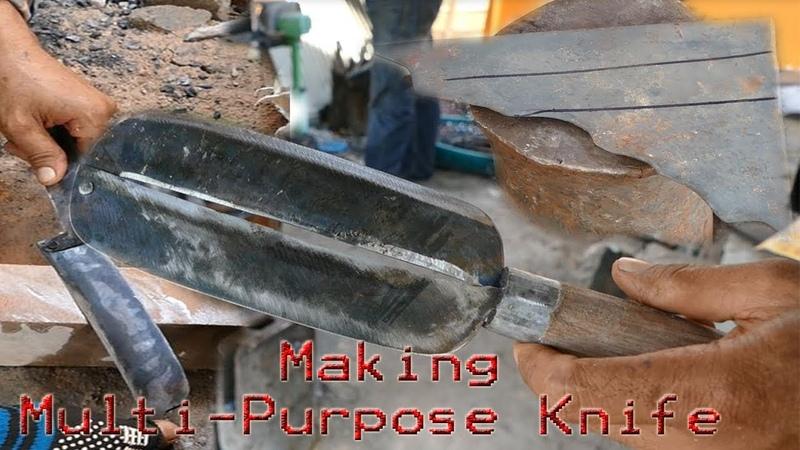 Making A Multi-Purpose Knife|Two-Blade Knife|Kambet Mokpi Knife (Must Watch Video)