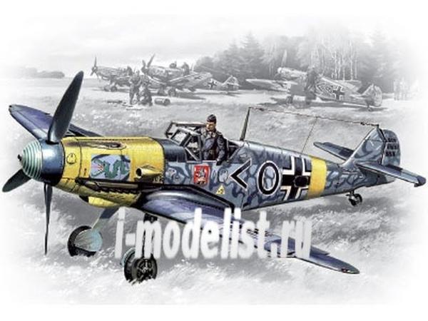 Обзор содержимого коробки сборной масштабной модели фирмы ICM немецкий истребитель Bf 109F2 в 1 48 масштабе Автор и ведущий Дмитрий Гинзбург i goods model aviacija icm 257