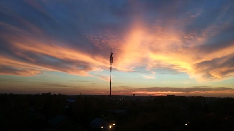 Осенний закат в Красково. Небо жжёт!) Russia russiannature Красково красиво пейзаж видизокна kraskovo landscape view n