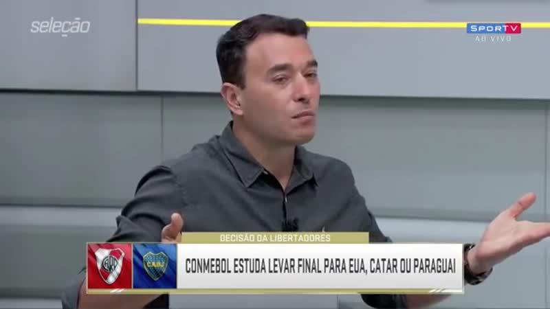 Libertadores nos EUA Catar ou Paraguai Luis Roberto PISTOLOU com a ideia