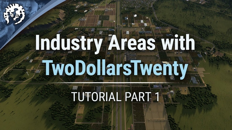 Industry Areas with TwoDollarsTwenty Cities Skylines Industries Tutorial Part 1