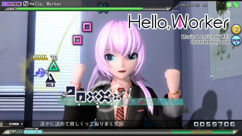 【PPD】Hello, Worker【Arcade version*】EXTRA EXTREME | COMPLETE