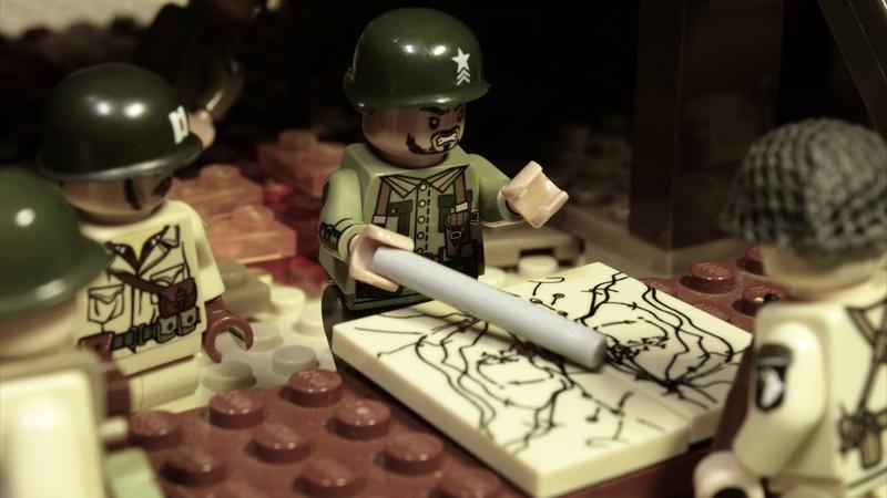 LEGO WW2 NORMANDY БРАТЬЯ ПО ОРУЖИЮ мультфильм о войне 2 серия
