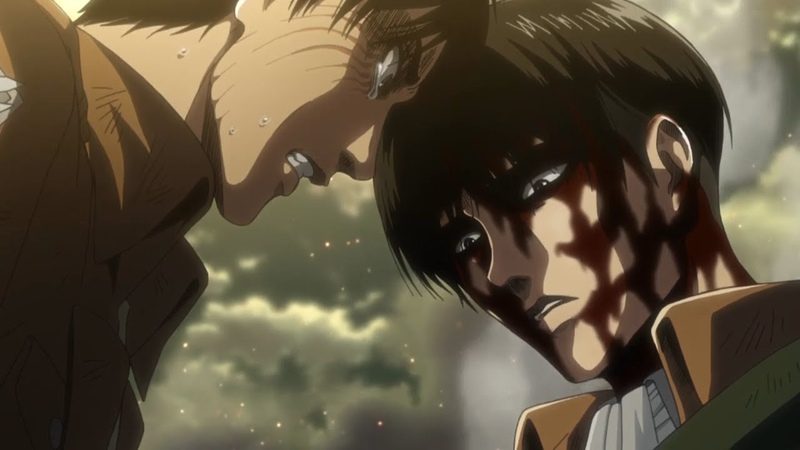 Attack on Titan Season 3 Final Episode 12 Ending Scene - Eren, Mikasa Levi